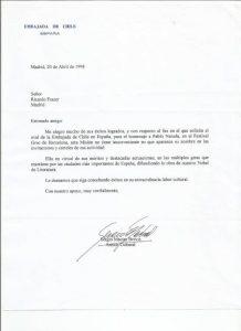 EMBAJADA DE CHILE 1998