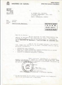 REGISTRO MINISTERIO DE CULTURA