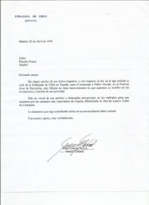 EMBAJADA DE CHILE 1998